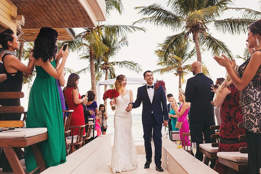 Intimate Thompson Playa del Carmen Wedding