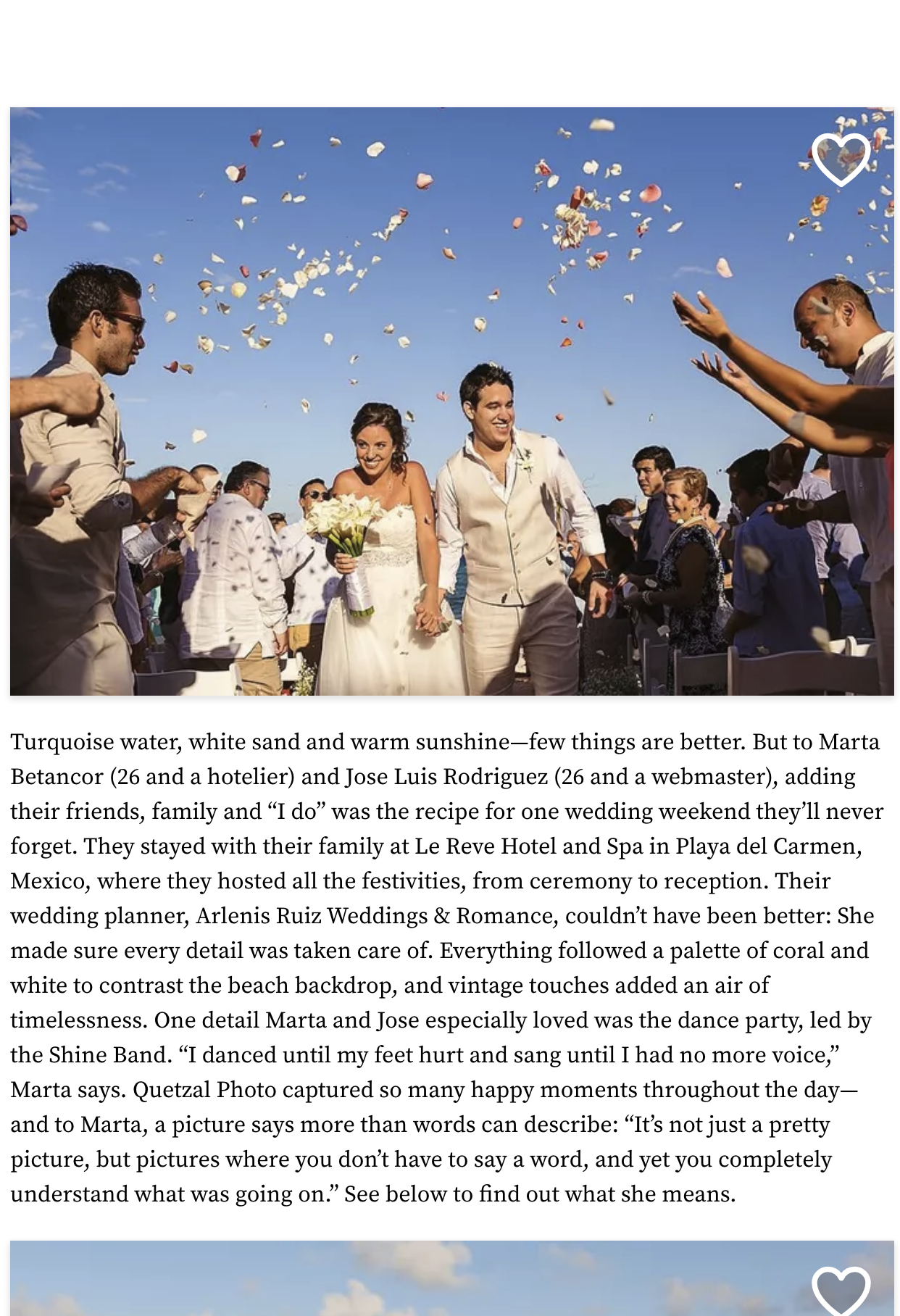 A Romantic Beach Wedding at Le Reve Hotel and Spa in Playa del Carmen, Mexico