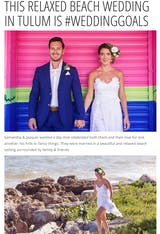 THIS RELAXED BEACH WEDDING IN TULUM IS #WEDDINGGOALS