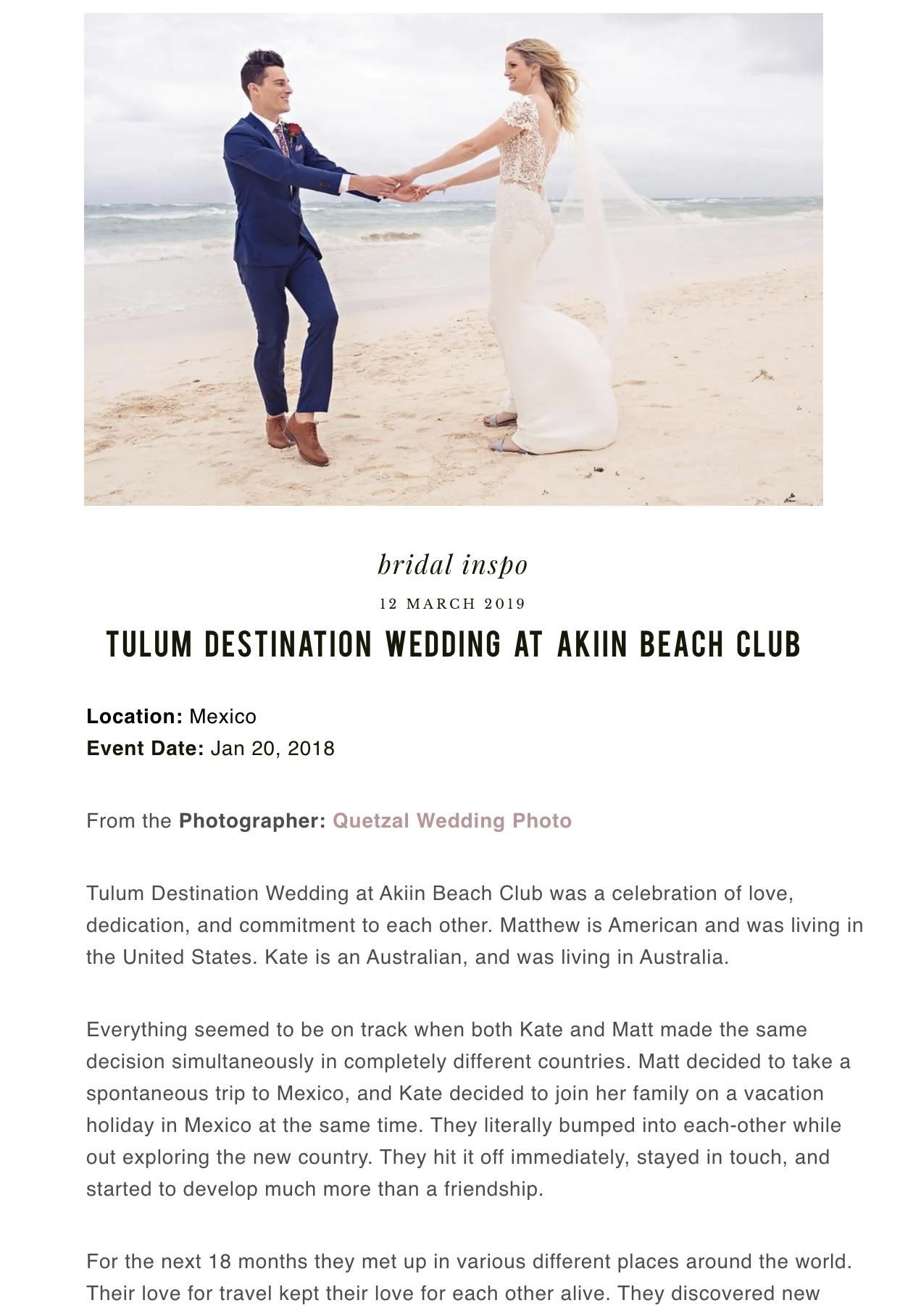 TULUM DESTINATION WEDDING AT AKIIN BEACH CLUB