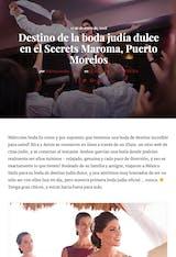 Destino de la boda judía dulce en el Secrets Maroma, Puerto Morelos