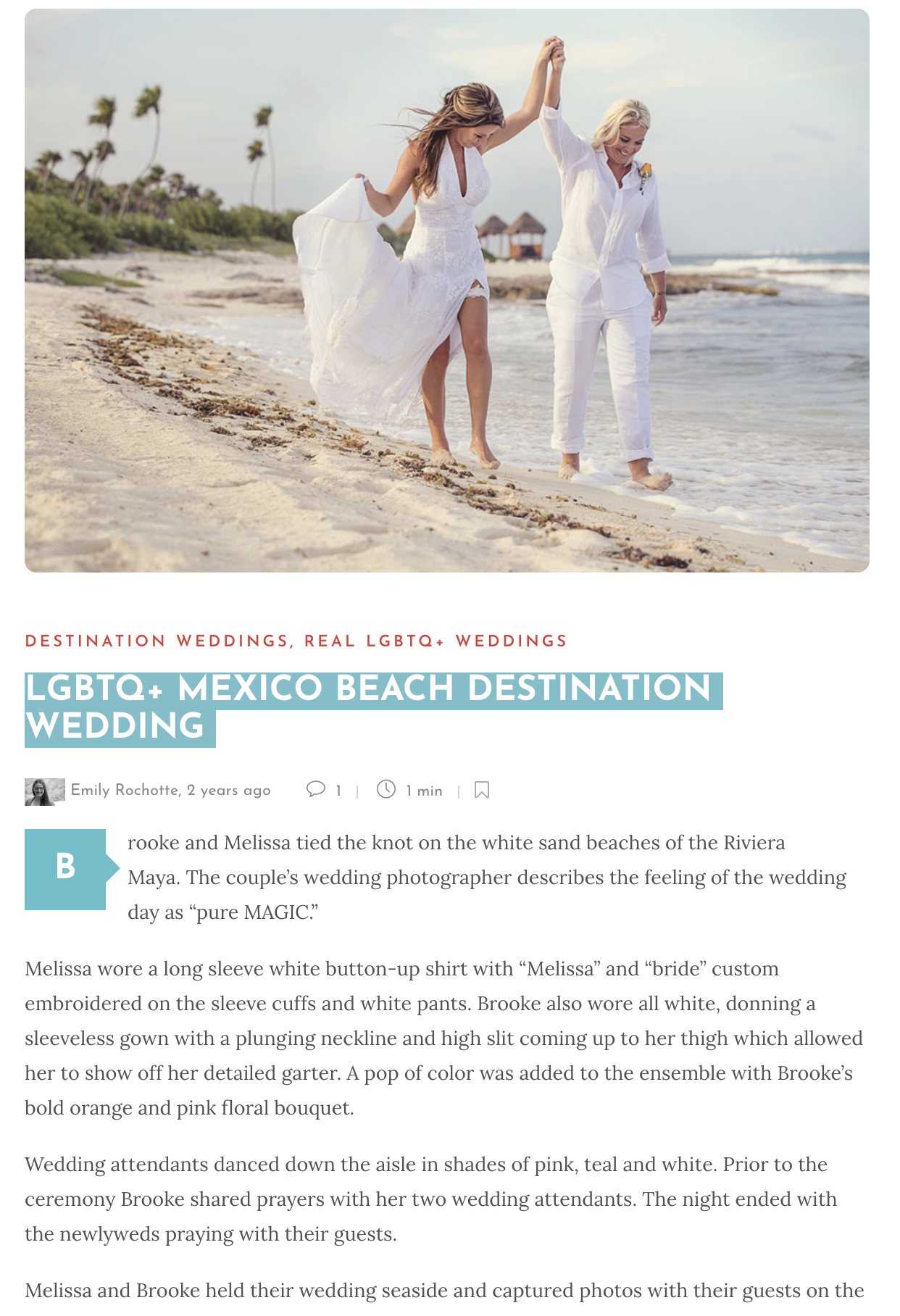 LGBTQ+ MEXICO BEACH DESTINATION WEDDING