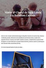 Mario & Cheryl de fuga Linda en Royalton Cancun