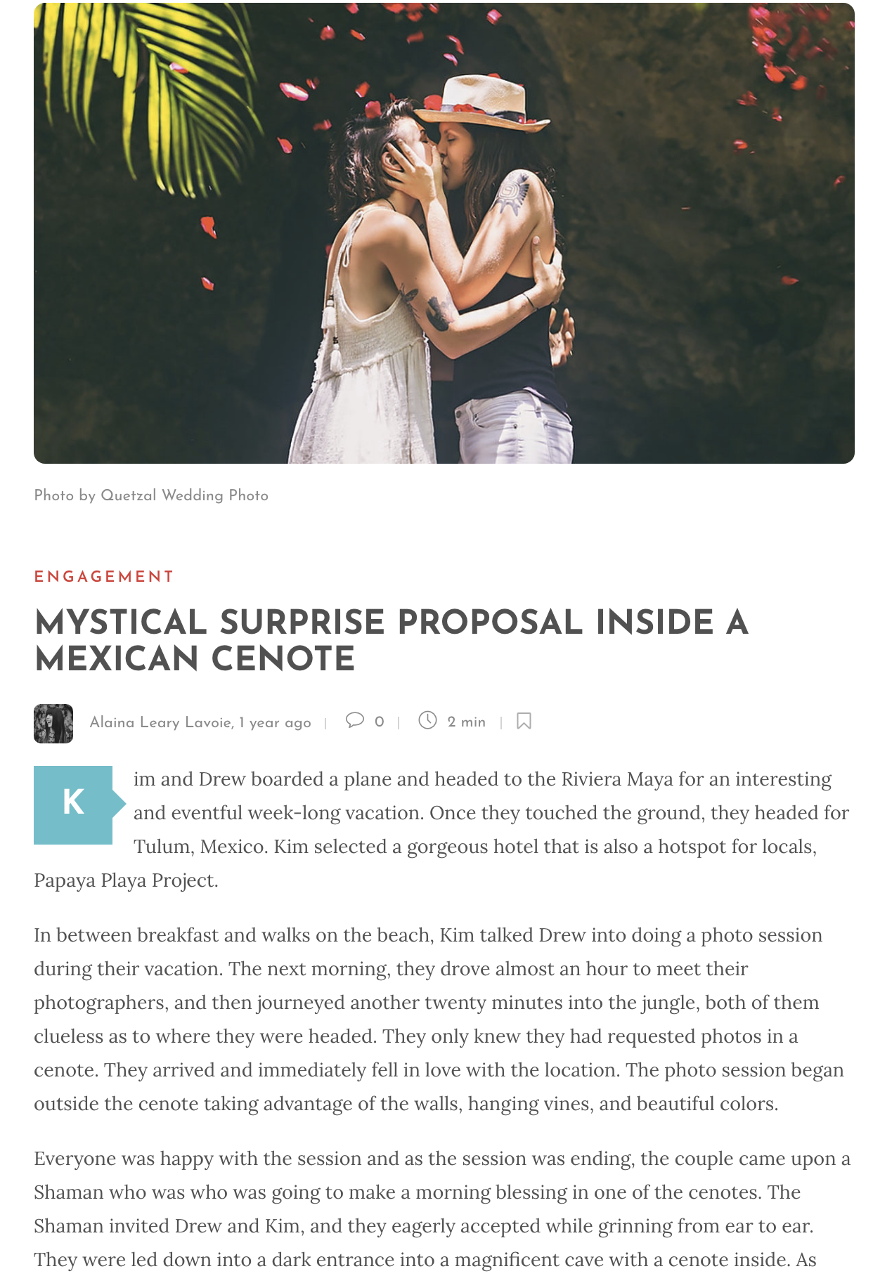 MYSTICAL SURPRISE PROPOSAL INSIDE A MEXICAN CENOTE