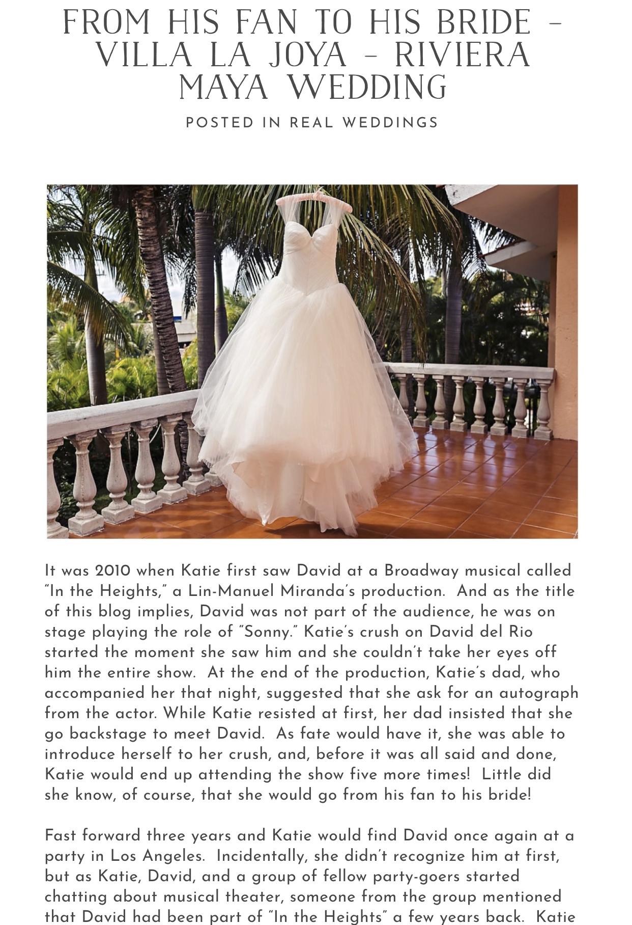 From his fan to his bride – Villa La Joya – Riviera Maya Wedding