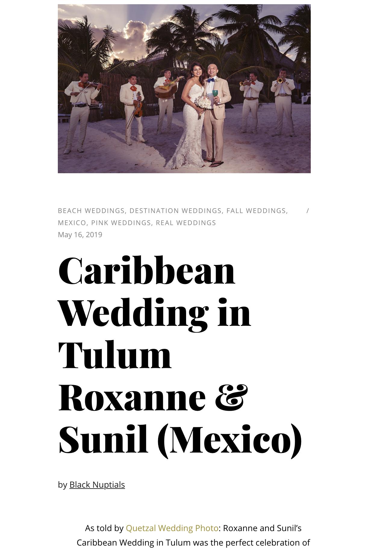 Caribbean Wedding in Tulum Roxane and Sunil