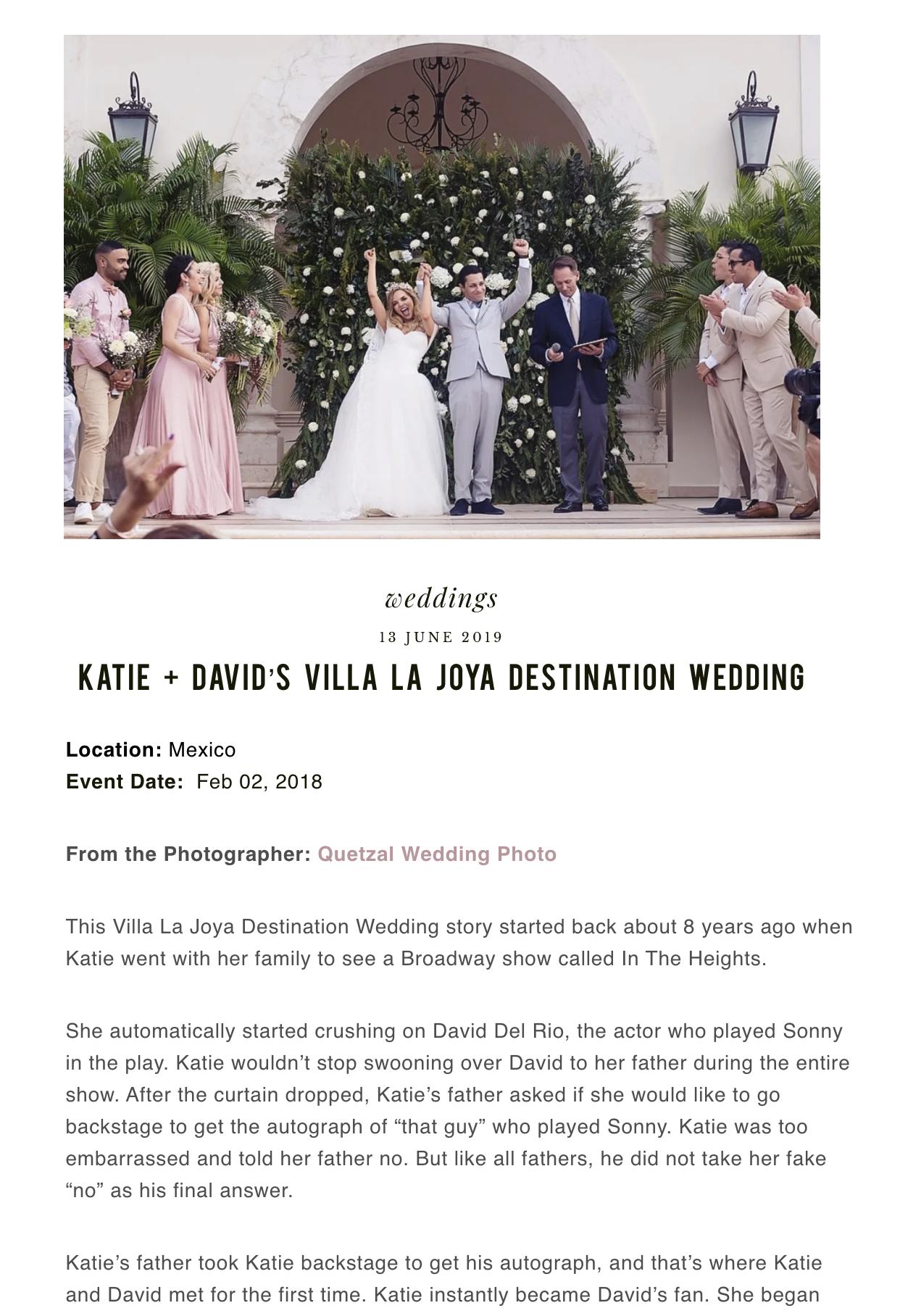 KATIE + DAVID'S VILLA LA JOYA DESTINATION WEDDING