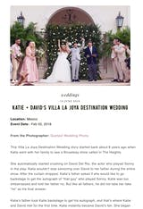 KATIE + DAVID'S VILLA LA JOYA DESTINATION WEDDING