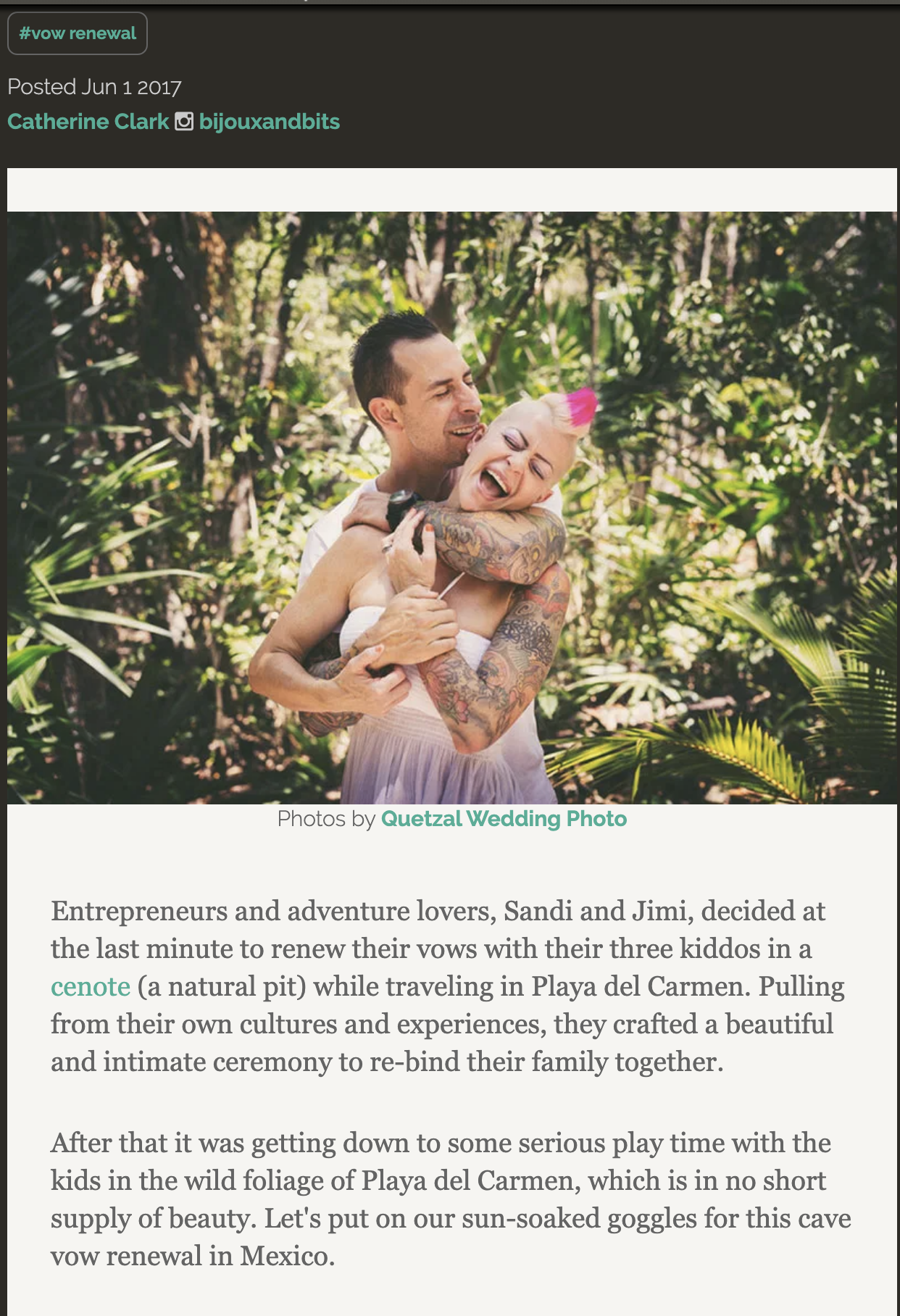 This cave vow renewal in Mexico is pure family love