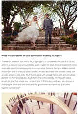 A Magical Destination Wedding in Xcaret Park