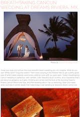 BREATHTAKING CANCUN WEDDING AT DREAMS RIVIERA, MX