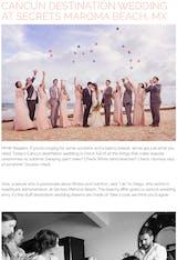 CANCUN DESTINATION WEDDING AT SECRETS MAROMA BEACH, MX
