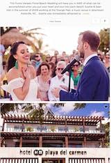 PUNTA VENADO FLORAL BEACH WEDDING   SOPHIE + SEAN