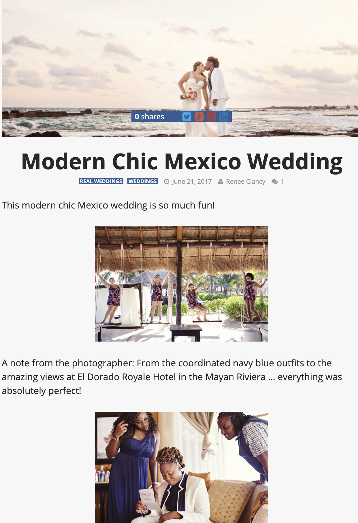 Modern Chic Mexico Wedding